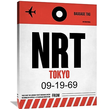 Naxart 'NRT Tokyo Luggage Tag' Graphic Art on Wrapped Canvas; 40'' H x 30'' W x 1.5'' D
