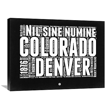 Naxart 'Colorado Map' Textual Art on Wrapped Canvas; 24'' H x 32'' W x 1.5'' D