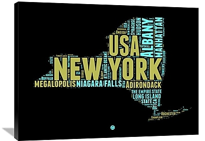 Naxart 'New York Word Cloud 1' Textual Art on Wrapped Canvas; 30'' H x 40'' W x 1.5'' D