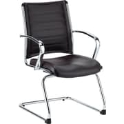 Eurotech Seating Europa Leather Guest Chair; Black