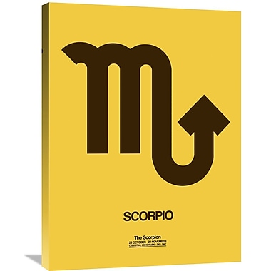 Naxart 'Scorpio Zodiac Sign' Graphic Art on Wrapped Canvas in Brown; 32'' H x 24'' W x 1.5'' D