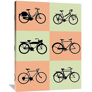 Naxart 'Bicycle Poster' Graphic Art on Wrapped Canvas; 48'' H x 36'' W x 1.5'' D