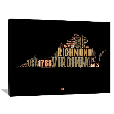 Naxart 'Virginia Word Cloud 1' Textual Art on Wrapped Canvas; 30'' H x 40'' W x 1.5'' D