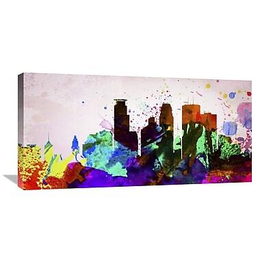 Naxart 'Minneapolis City Skyline' Graphic Art on Wrapped Canvas; 18'' H x 36'' W x 1.5'' D
