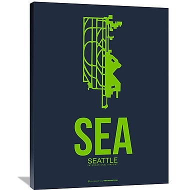 Naxart 'SEA Seattle Poster 2' Graphic Art on Wrapped Canvas; 40'' H x 30'' W x 1.5'' D