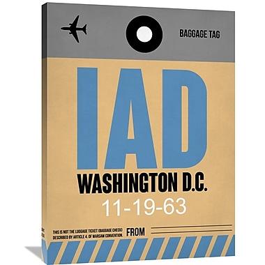 Naxart 'IAD Washington Luggage Tag 1' Graphic Art on Wrapped Canvas; 40'' H x 30'' W x 1.5'' D
