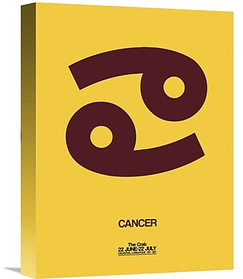 Naxart 'Cancer Zodiac Sign' Graphic Art on Wrapped Canvas in Brown; 16'' H x 12'' W x 1.5'' D