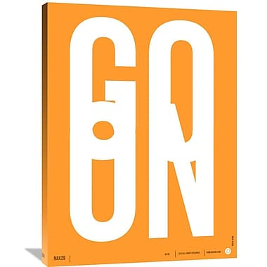Naxart 'Go On Poster 2' Textual Art on Wrapped Canvas; 40'' H x 30'' W x 1.5'' D