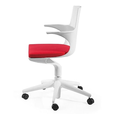 Mod Made Jaden Mid-Back Desk Chair; White/Red