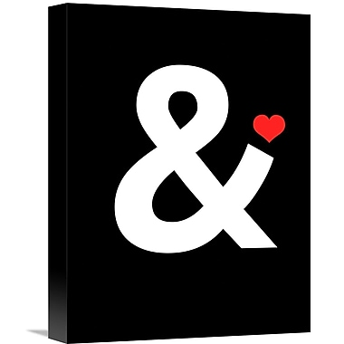 Naxart 'Ampersand Poster 4' Textual Art on Wrapped Canvas; 16'' H x 12'' W x 1.5'' D