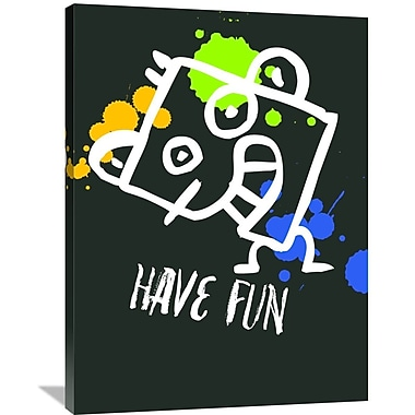 Naxart 'Have Fun Poster 2' Graphic Art on Wrapped Canvas; 40'' H x 30'' W x 1.5'' D