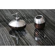 MaestroBath Glamour Luxury 2-Piece Bathroom Accessory Set; Brown