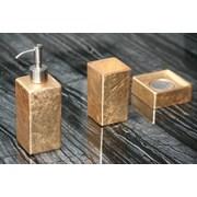 MaestroBath Luxury 3-Piece Bathroom Accessory Set; Gold Leaf