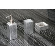MaestroBath Luxury 3-Piece Bathroom Accessory Set; Silver Leaf