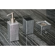 MaestroBath Venice 3-Piece Bathroom Accessory Set; Black / Silver