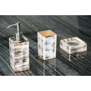 MaestroBath Atelier 3-Piece Bathroom Accessory Set; Black / Silver / Ivory