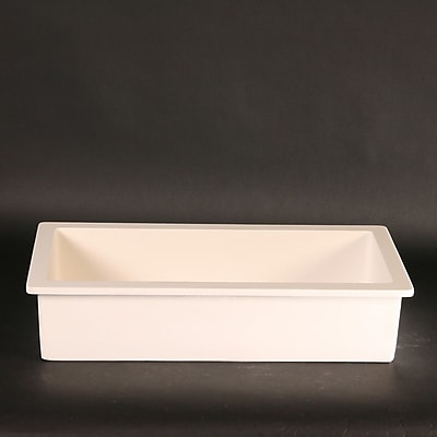 MaestroBath Vetro Freddo RX Rectangular Vessel Bathroom Sink; White
