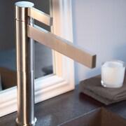 MaestroBath Caso Single Handle Single Hole Vessel Faucet; Polished Nickel