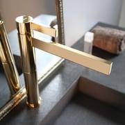 MaestroBath Caso Single Handle Single Hole Vessel Faucet; Polished Gold