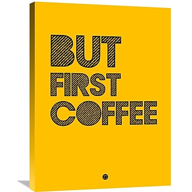 Naxart 'But First Coffee Poster 3' Textual Art on Wrapped Canvas; 32'' H x 24'' W x 1.5'' D