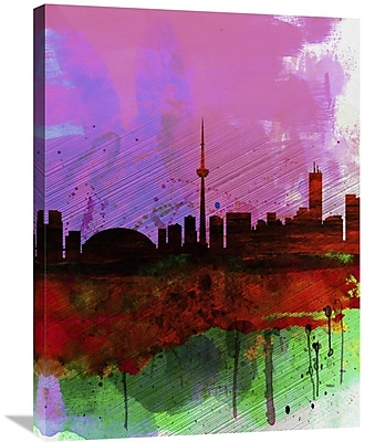 Naxart 'Toronto Watercolor Skyline' Painting Print on Wrapped Canvas; 32'' H x 24'' W x 1.5'' D