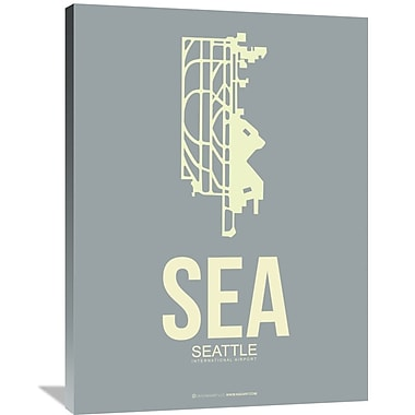 Naxart 'SEA Seattle Poster 3' Graphic Art on Wrapped Canvas; 40'' H x 30'' W x 1.5'' D