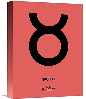 Naxart 'Taurus Zodiac Sign' Graphic Art on Wrapped Canvas in Black; 16'' H x 12'' W x 1.5'' D