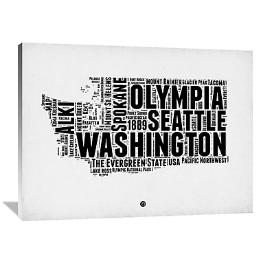 Naxart 'Washington Word Cloud 2' Textual Art on Wrapped Canvas; 36'' H x 48'' W x 1.5'' D