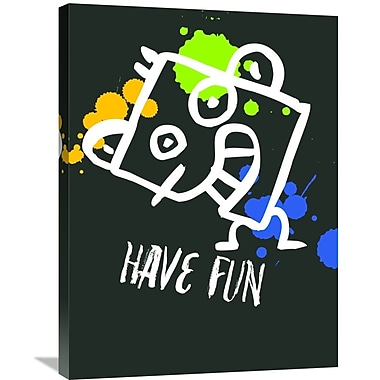Naxart 'Have Fun Poster 2' Graphic Art on Wrapped Canvas; 32'' H x 24'' W x 1.5'' D