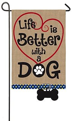 Evergreen Enterprises, Inc Life is Better w/ Dog Garden Flag