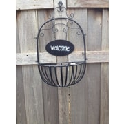 Artscapes Welcome Basket Metal Wall Planter