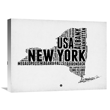 Naxart 'New York Word Cloud 2' Textual Art on Wrapped Canvas; 18'' H x 24'' W x 1.5'' D