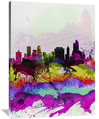 Naxart 'Tulsa Watercolor Skyline' Graphic Art on Wrapped Canvas; 48'' H x 36'' W x 1.5'' D