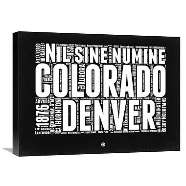 Naxart 'Colorado Map' Textual Art on Wrapped Canvas; 18'' H x 24'' W x 1.5'' D