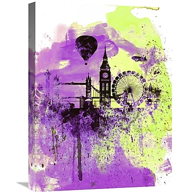 Naxart 'London Watercolor Skyline 1' Graphic Art on Wrapped Canvas; 24'' H x 18'' W x 1.5'' D
