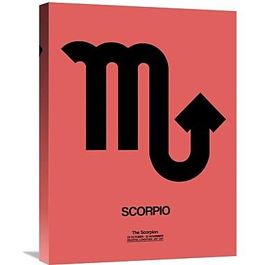 Naxart 'Scorpio Zodiac Sign' Textual Art on Wrapped Canvas in Black; 24'' H x 18'' W x 1.5'' D