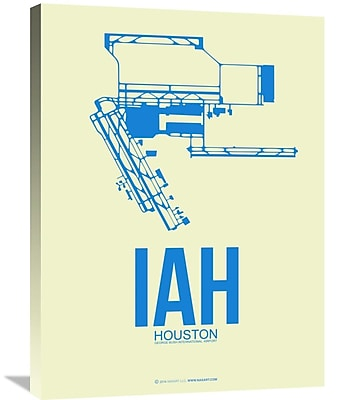Naxart 'IAH Houston Airport 3' Graphic Art on Wrapped Canvas; 32'' H x 24'' W x 1.5'' D