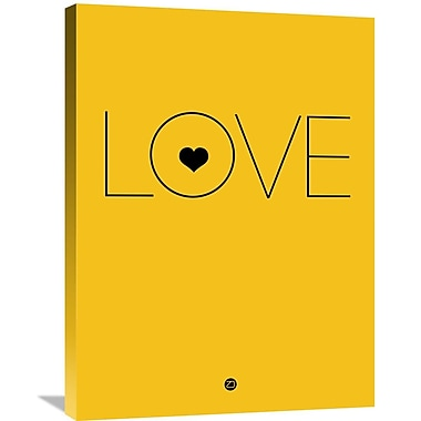 Naxart 'Love Poster' Textual Art on Wrapped Canvas; 32'' H x 24'' W x 1.5'' D
