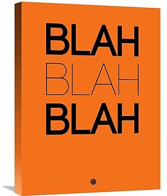 Naxart 'Blah Blah Blah' Poster Textual Art on Wrapped Canvas; 24'' H x 18'' W x 1.5'' D
