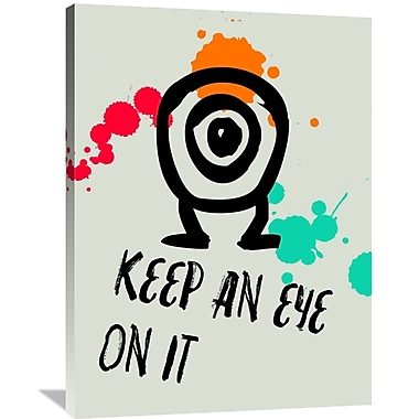 Naxart 'Keep An Eye On It Poster 1' Graphic Art on Wrapped Canvas; 40'' H x 30'' W x 1.5'' D