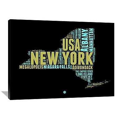 Naxart 'New York Word Cloud 1' Textual Art on Wrapped Canvas; 36'' H x 48'' W x 1.5'' D