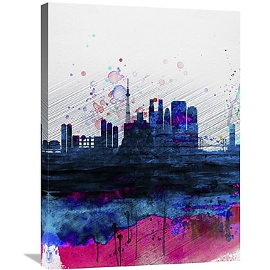 Naxart 'Tokyo Watercolor Skyline' Graphic Art on Wrapped Canvas; 32'' H x 24'' W x 1.5'' D