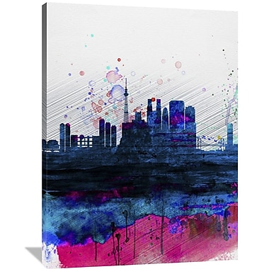 Naxart 'Tokyo Watercolor Skyline' Graphic Art on Wrapped Canvas; 48'' H x 36'' W x 1.5'' D