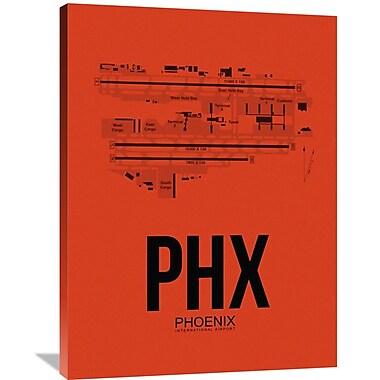 Naxart 'PHX Phoenix Airport' Graphic Art on Wrapped Canvas; 40'' H x 30'' W x 1.5'' D