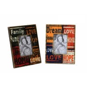 AttractionDesignHome 2 Piece Family Dream Rectangle Picture Frame Set
