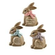 Blossom Bucket 3 Piece Better Therapy Bunnies Figurine Set