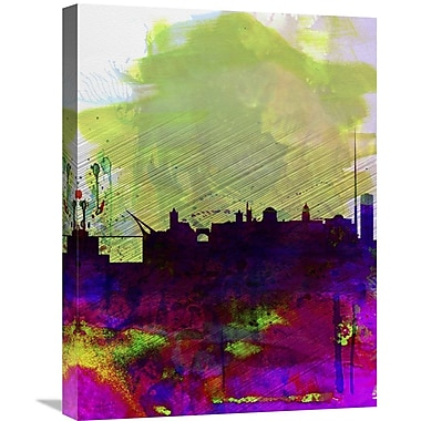 Naxart 'Dublin Watercolor Skyline' Graphic Art on Wrapped Canvas; 24'' H x 18'' W x 1.5'' D