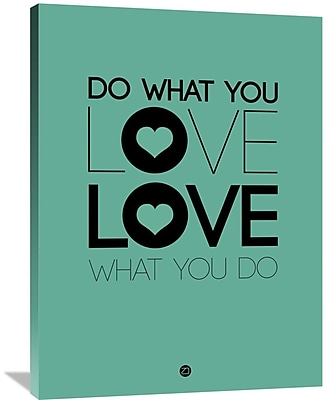 Naxart 'Do What You Love What You Do 3' Textual Art on Wrapped Canvas; 40'' H x 30'' W x 1.5'' D