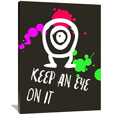 Naxart 'Keep An Eye On It Poster 2' Graphic Art on Wrapped Canvas; 48'' H x 36'' W x 1.5'' D
