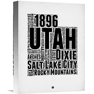 Naxart 'Utah Word Cloud 2' Textual Art on Wrapped Canvas; 16'' H x 12'' W x 1.5'' D
